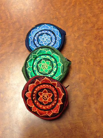 Round Om Lotus Coin Purse