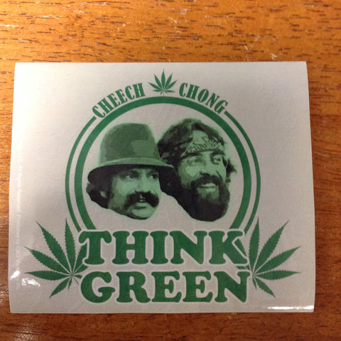 Cheech And Chong Think Green Sticker