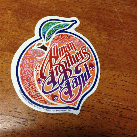 Allman Brothers Band Beacon Peach Sticker