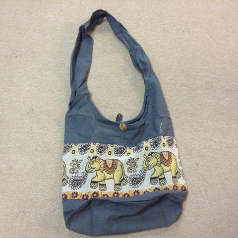 Cotton Elephant Tapestry Bag