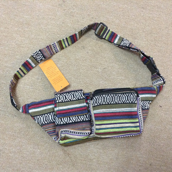 Cotton Tribal Print Belt Pouch