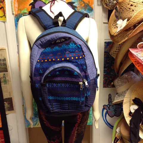 Basket Weave with Hand Woven Front Backpack