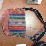 Cotton Acid Wash Tribal Print Purse