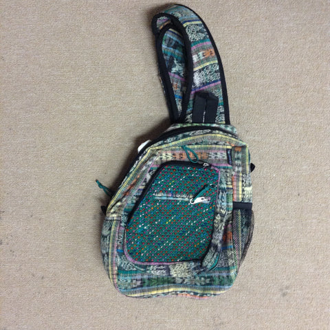 Hand Woven Brocade on Cotton Sling Pack