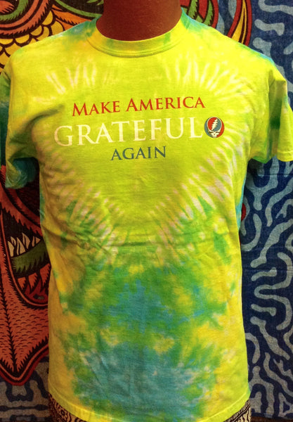 Mens Grateful Dead Tie-Dye Make America Grateful Again T-Shirt