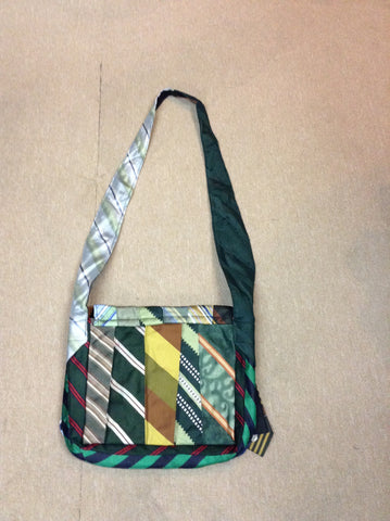 Recycled Neck Tie Messanger Bag