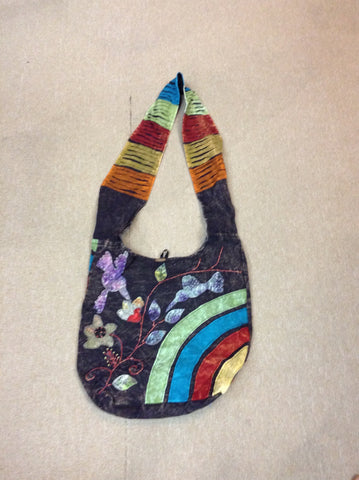 Happy As A Hummingbird Stonewash Shoulder Bag