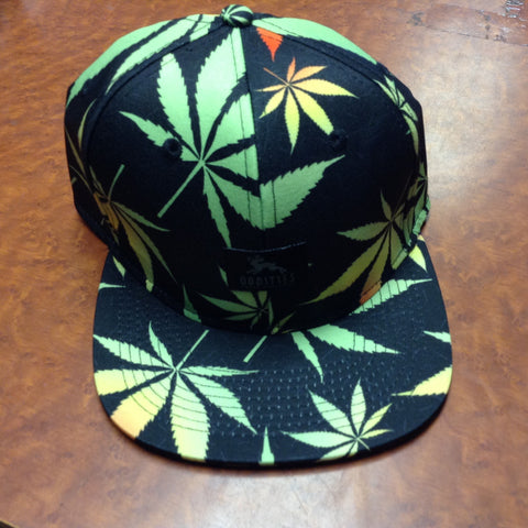 Amnesia Pot Leaf Snapback Hat