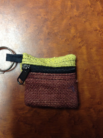 Home Grown Veg Dye Keychain Coin Purse