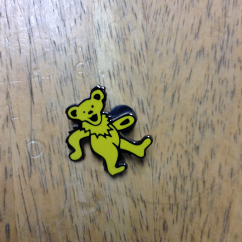 Yellow Dancing Bear Hat Pin