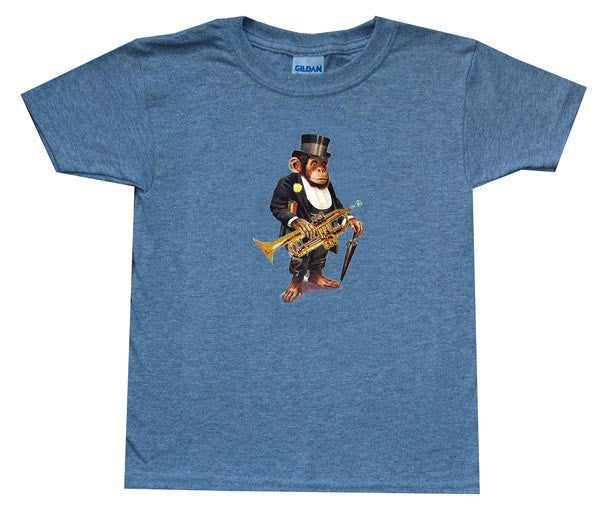 Top Hat Chimp Youth T Shirt