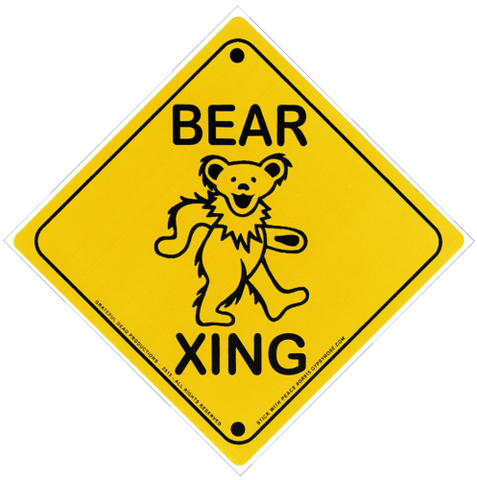 Bear Crossing Sticker