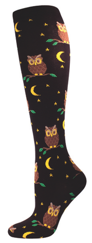Night Owl Knee High Womens Socks