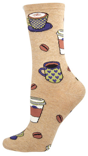 Womens Love You A Latte Coffee Socks