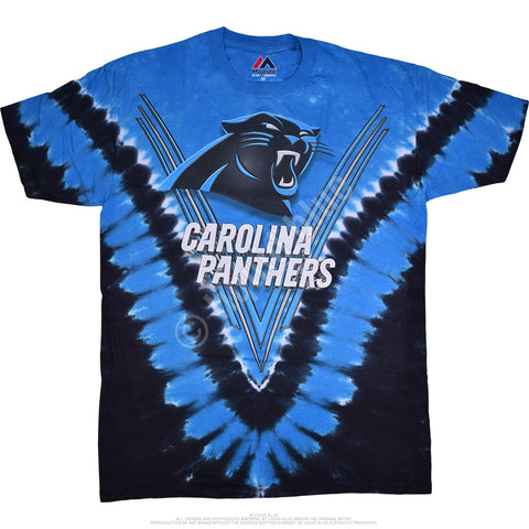 Panthers Logo V Tie Dye T-Shirt NFL
