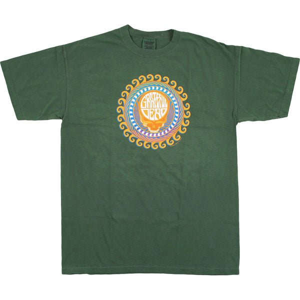 Grateful Dead Orange Sunshine Stealie T Shirt