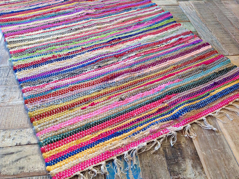 Chindi Recycled Material Multi Color Rug