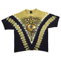 Saints Logo V Tie Dye T-Shirt NFL