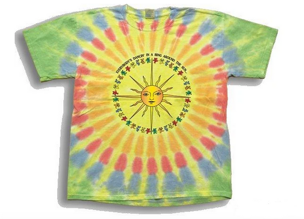 Mens Grateful Dead Bears Around The Sun Tie-Dye T-Shirt