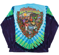 Mens Grateful Dead Wonderland Jamband Tie-Dye LS T-Shirt