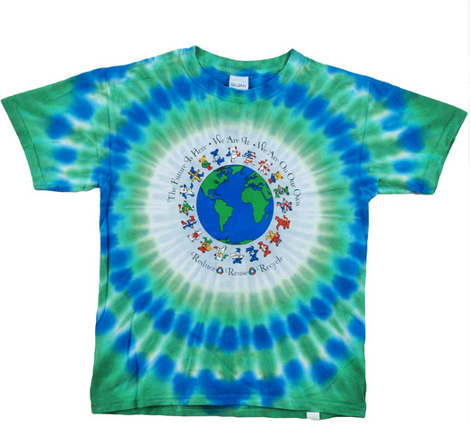 Mens Grateful Dead Recycle Around The World Tie-Dye T-Shirt