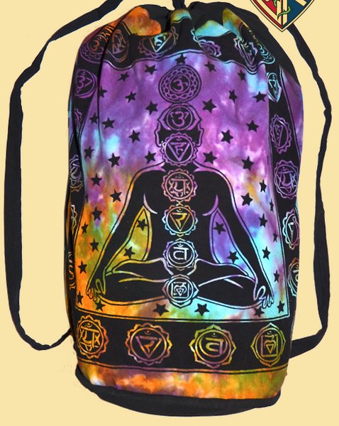 Cosmic Chakra Print Drawstrign Backpack