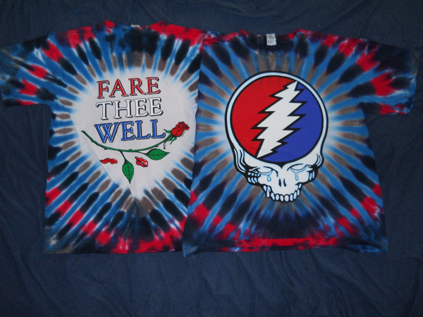 Grateful Dead Fare Thee Well Steal Your Tears Tie Dye T-Shirt