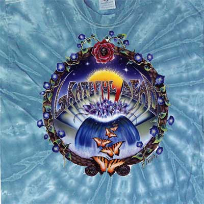 Grateful Dead Butterfly Moon Flower Tie-Dye T-Shirt