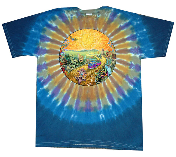 Mens Grateful Dead Golden Road Tie-Dye T-Shirt