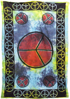 Peace Sign Tie-dye Tapestry