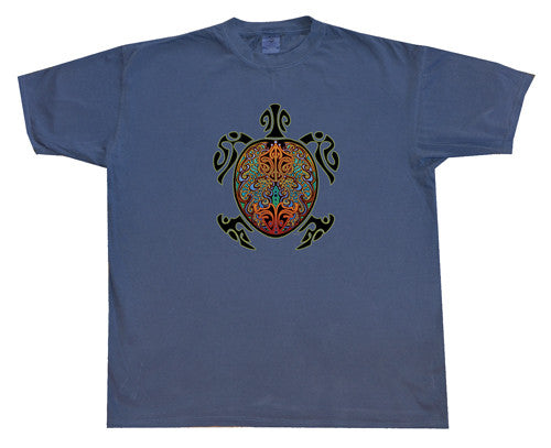 Mens Tribal Turtle T-Shirt