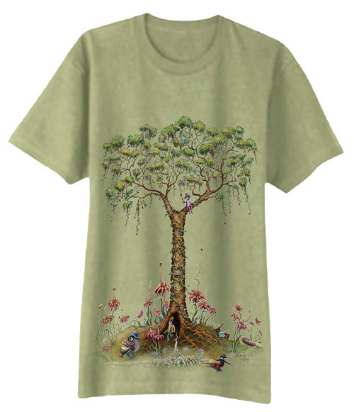 Eyeland Tree Art Print Solid T-Shirt