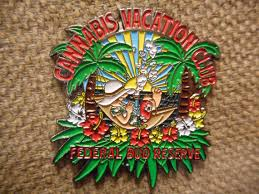 Cannabis Vacation Club Hat Pin