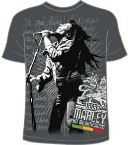 Bob Marley Hit Me With Music T-Shirt