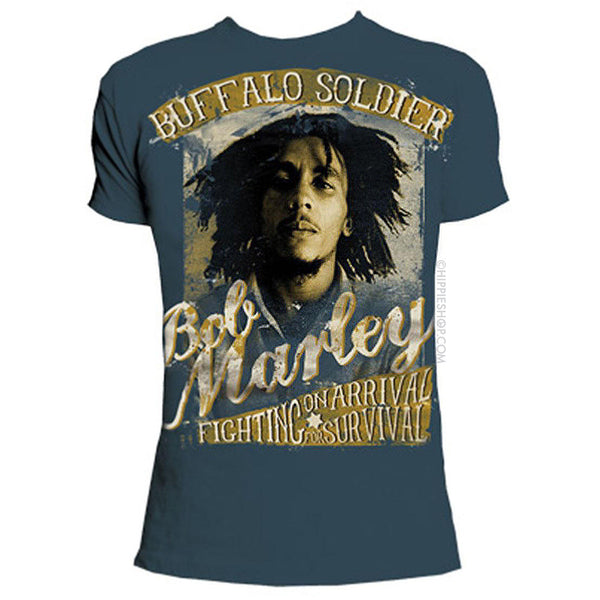 Bob Marley Buffalo Soldier Fighting T-shirt