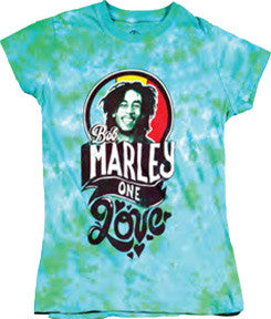 Bob Marley One Love Women's Tie-Dye T-Shirt
