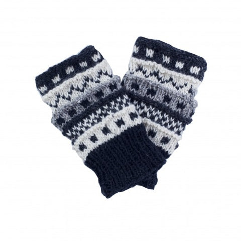 Knit Fingerless Hand Warmers