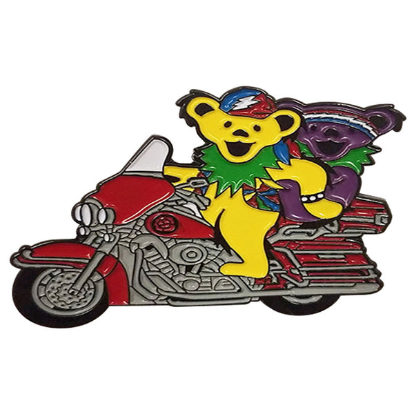 Grateful Dead Motorcycle Bears Hat Pin