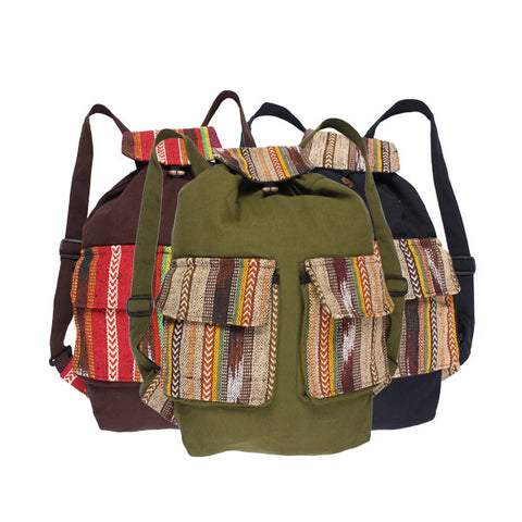 Double Front Pocket Bag Backpack