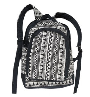 Black White Pattern Bag Backpack