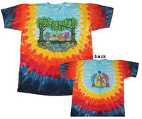 Grateful Dead Peace Wood Bears Tie Dye T-shirt