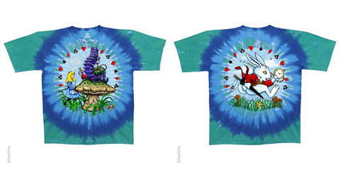 Alice, Caterpillar, and White Rabbit Tie-Dye T-Shirt