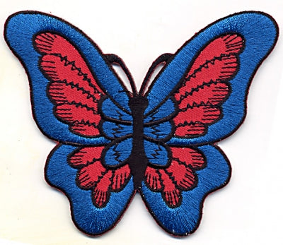 Red and Blue Butterfly Patch