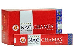 Golden Nag Champa Incense 3 Pack (36 sticks)