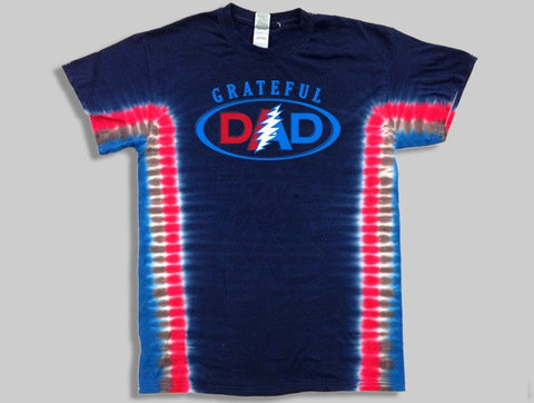Grateful Dad Tie Dye Mens T-Shirt
