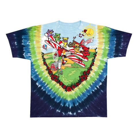 Grateful Dead Biplane Bears Youth T-shirt