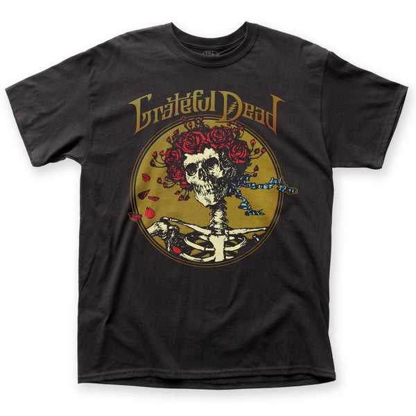 Mens Grateful Dead Skull Roses T-shirt