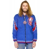 DISCONTINUED Grateful Dead Alpaca SYF Blue Jacket