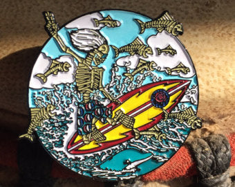 Dead Surfer Hat Pin