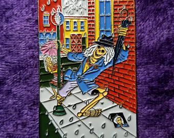 Grateful Dead Dancing In Dead Rain Hat Pin